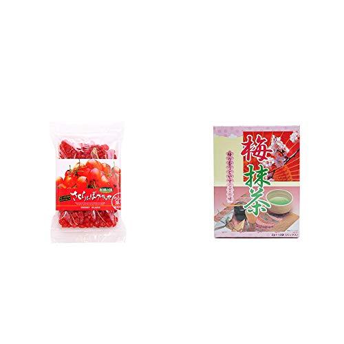 [2点セット] 収穫の朝 さくらんぼグラッセ ラム酒風味(180g)・梅抹茶[小](12袋)