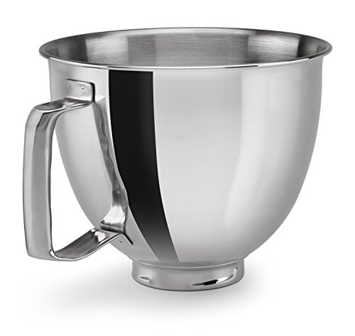 KitchenAid Polished Stainless Steel Bowl with Handle, Metallic