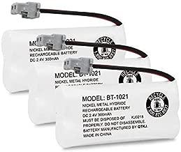 QTKJ Cordless Phone Battery for Uniden BT-1021 BT-1008 BT-1016 BT-1025 D1760 D3097 D1785 D1680 D1760 D1788 D3098 D1780 DWX207 DCX200 DCX160 BT-1008S Handset Sanyo CAS-D6325 (3-Pack)