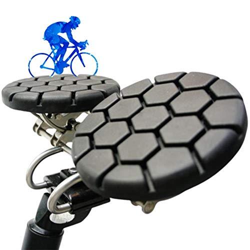 LXNQG Bequemer Ohne Nase Fahrradsattel, Sanft Stoßfest Ergonomisch Fahrradsitz Gel Sattel Kooperieren Beine Bewegung Mit Anti Prostata für Männer und Frauen Gesundheit