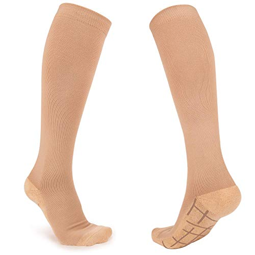 Compression Socks for Women and Men – Knee High Support Stockings for Nurses, Pregnancy, Running - Regular and Wide Calf