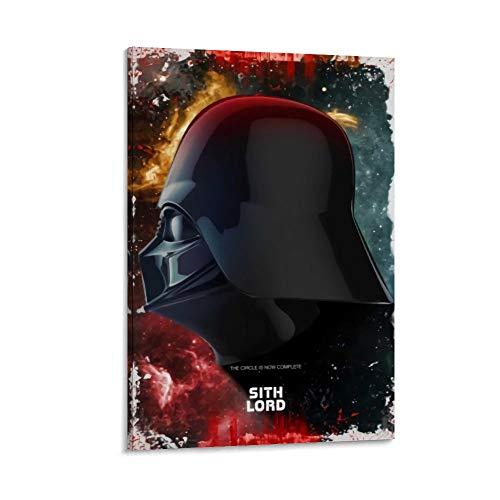 DRAGON VINES Star Wars Sith Lord Darth Vader Casco puede colgar pinturas modernas decoración de pared para oficina enmarcada 30 x 45 cm