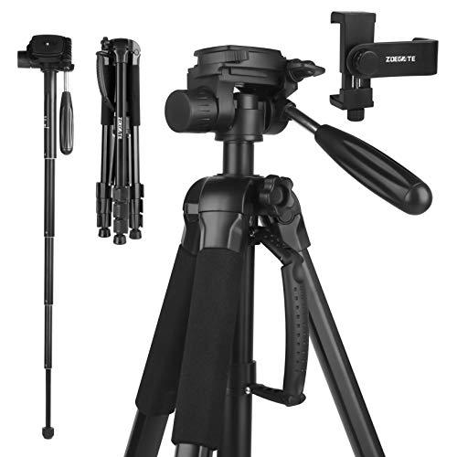 FAZUSEN 177cm Kamera Stativ Aluminiumlegierungen Stativ mit Einbeinstativ und Handyhalterung 360° Kugelkopf Reisestativ Fotostativ für Canon Nikon Sony Samsung Olympus Panasonic