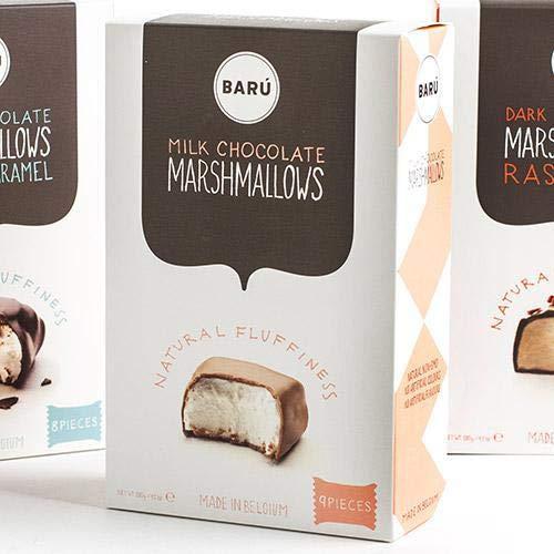 BARU Marshmallows in dunkler Schokolade mit Karamell 120 g
