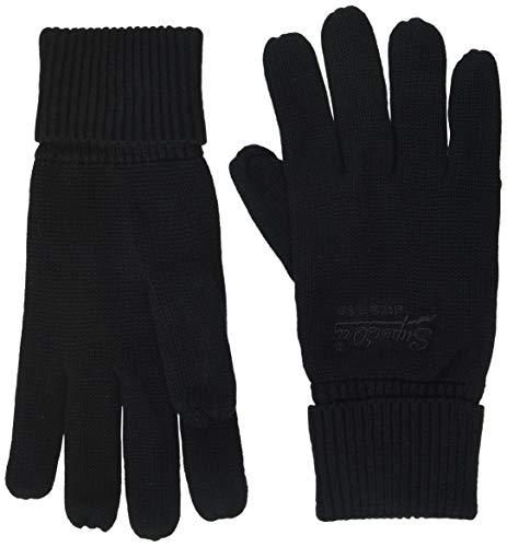 Superdry Herren ORANGE LABEL GLOVE Winter-Handschuhe, Black, Einheitsgröße
