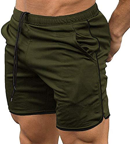 COOFANDY Pantalones Cortos Deportivos Hombre con Bolsillos, Pantalones Cortos Deportivos de Secado rápido, Ligeros para Entrenamiento, Fitness, Correr, Trotar