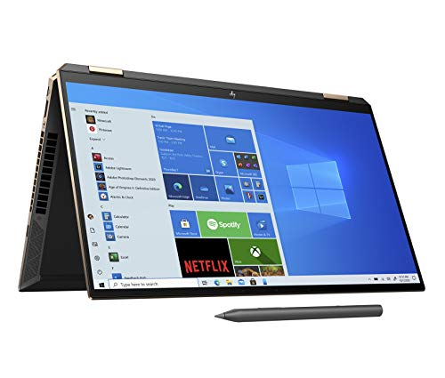 HP Spectre x360 15-eb0003na 15.6 Inch 4K Convertible Laptop with Stylus, Nightfall Black (Intel Core i7-10750H, 16GB RAM, 512GB SSD,NVIDIA GeForce GTX 1650 Graphics, 4GB Dedicated, Windows 10 Home)