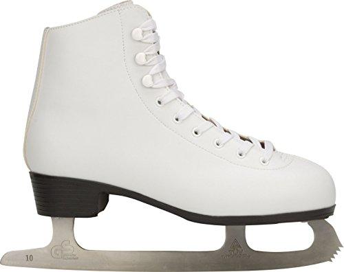 Nijdam 0043-WIT-41 Damen Eiskunstlauf Schlittschuhe,Weiß,34