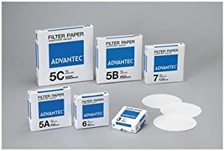 Advantec MFS GB100R25MM Fiber Filter Pack of 100 Air Monitoring 0.38 mm Thickness 25 mm Diameter Grade GB100R 0.80 Borosilicate Glass White
