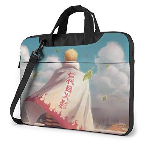 Bolsa de Mensajero de Hombro para computadora portátil, Anime japonés NAR-uto Uzumaki Seventh Hokage Painting Bolsas Casuales Estuche de Transporte para computadora