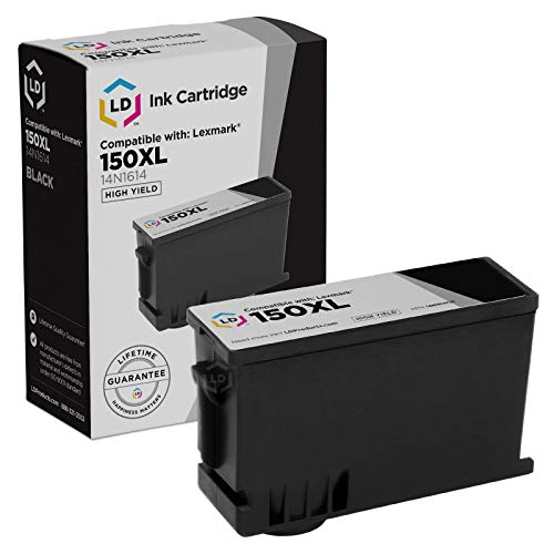 LD Compatible Ink Cartridge Replacement for Lexmark 150XL High Yield (2 Black, 1 Cyan, 1 Magenta, 1 Yellow, 5-Pack)