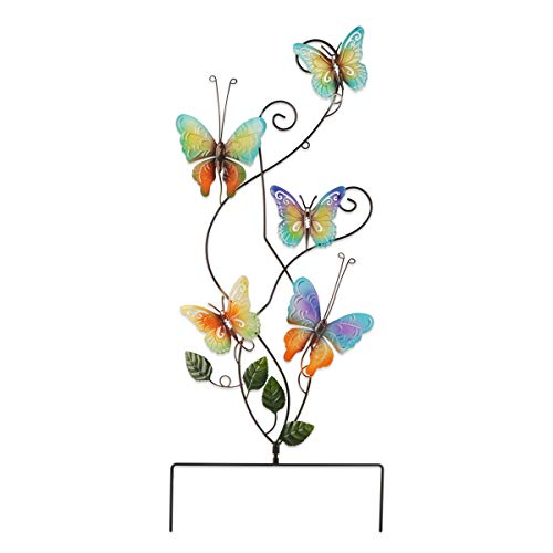 73cm Farfalla Metallo Decorazione per Giardino Statue da Giardino Statua da Giardino in Farfalla Artificiale Statua Scultura da Giardino Per la Decorazione del Giardino Per Giardino(colore arcobaleno)