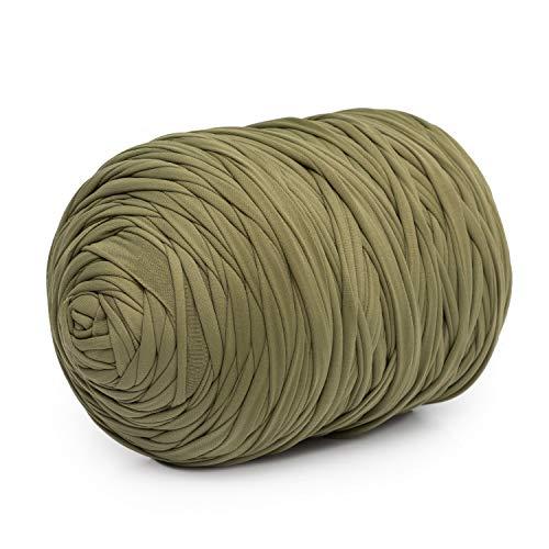 Trapillo Boguar Colores lisos 100-110 metros aprox. de tela cortada nueva (Verde militar)