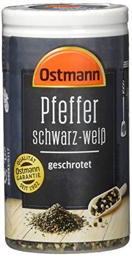 Ostmann Pfeffer schwarz-weiß geschrotet, 4er Pack (4 x 40 g)