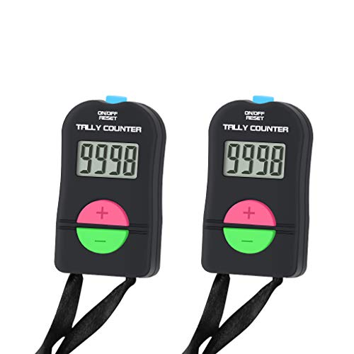 SENLINDALU Pack of 2 Pieces, Digital Hand Tally Counter Small Golf Sports Counter, Electronic Add/Subtract Manual Clicker