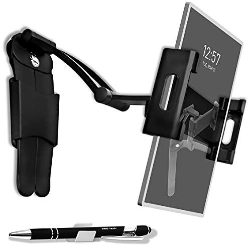 Supporto Tablet Telefono Cellulare Regolabile Universale 2 in 1 da Tavolo o Parete Muro Porta Smartphone in Alluminio accessori per Samsung Ipad Air 12-9 Iphone 11-12 Huawei Auto Bici Moto Corsa