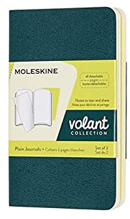 Moleskine - Volant Notebook - Set of 2 - Plain - Extra Small - Pine Green & Lemon Yellow (B079ZS9PCK)   Amazon price tracker / tracking, Amazon price history charts, Amazon price watches, Amazon price drop alerts