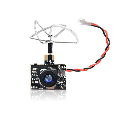 GOQOTOMO GT02 200mW 5.8GHz 40CH FPV Video Transmitter with Ultra Micro AIO NTSC 600TVL Camera Combo for FPV Indoor Racing