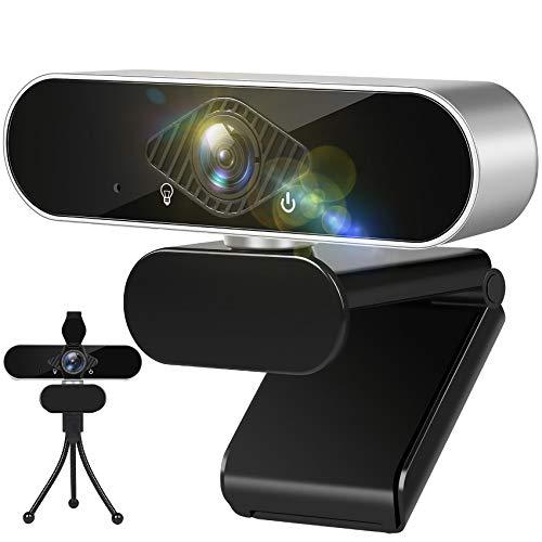 Aode Webcam mit Mikrofon, 1080P Webkamera, USB Kamera HD, Videokamera, Web Kamera, Web Cam, Web Camera, Computer Camera, Webcam für PC
