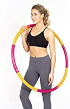 HEALTHYMODELLIFE Exercise Fitness Hoop by PINC Active - Easy to Spin, Premium Quality and Soft Padding Weighted Hoop - 2lbs