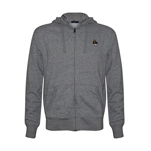 Price comparison product image Polo Ralph Lauren Mens Limited Full Zip Bear Hoodie (Grey / Basketball,  X-Large)