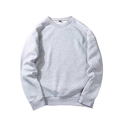 LUOYLYM Large Size Langarm Pullover Pullover Männer Gedruckt Rundhals Herbst Männer Und Frauen Jacke Hemd Männer Fleece Einfarbig Sweaterd2 / M