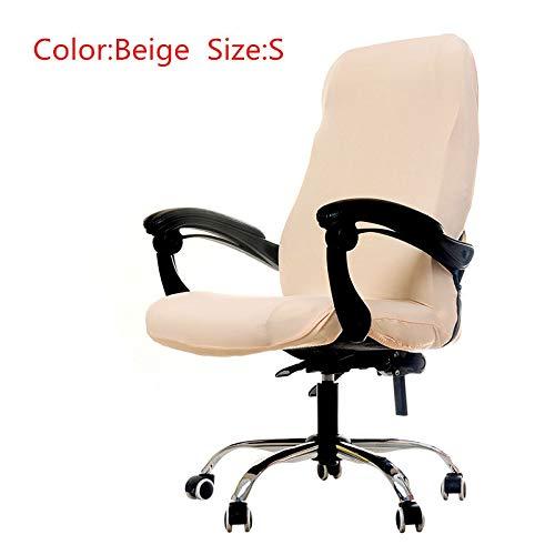 PCSACDF S/M/L maten kantoor stretch spandex stoelhoezen anti-vuilafstoelen computer stoelhoes afneembare hoezen voor bureaustoelen Universal beige S