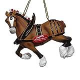 Kurt Adler 4.75' Budweiser Clydesdale Horse Molded Ornament Standard