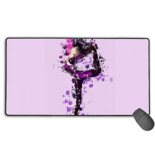 Yoga Pilates Picnicnon-Slip Rubber Mousepad Custom Rectangle Mouse Pads For Computers Laptop The Mouse Pad White One Size