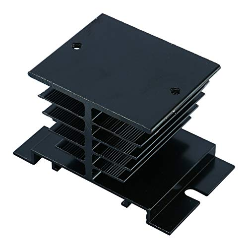 YaeCCC 3pcs Solid State Controller Heat Sink Aluminum Heat Sink Temperature Controller Heat Sink Solid State Controller Radiator Module Black for SSR-10A,25A,40A