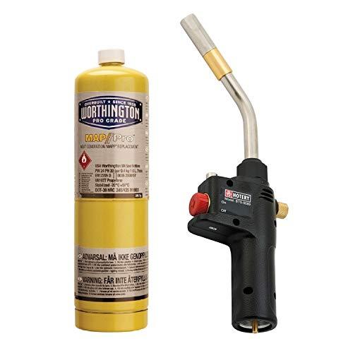 Cannello set torcia per saldatura con bombola gas MAP PRO - Cannello polifunzionale CGA600