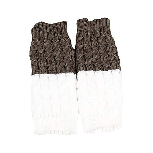 VESNIBA - Scaldamuscoli da donna a maglia lunga, scaldamuscoli invernali per danza fitness, yoga, scaldamuscoli a maglia cachi Taglia unica