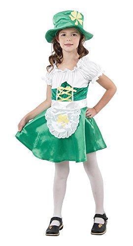 Bristol Novelty- CC843 Costume de Lutin Irlandais pour Fille, Taille, Blanc, Grand