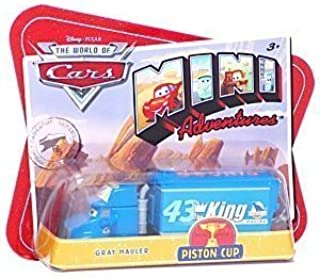 Disney Pixar World of Cars MINI Adventures GRAY - The King Hauler big rig truck Dinoco Blue