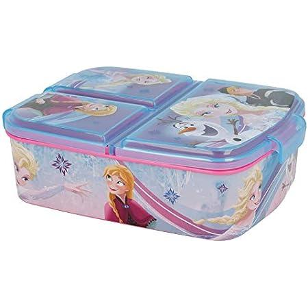 Stor Frozen (Disney) | Sandwichera con 3 Compartimentos para niños - lonchera Infantil - Porta merienda - Fiambrera Decorada