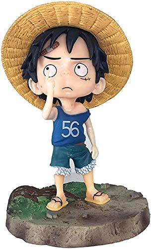 EIN Blowjob Picking Nase Luffy Figur Gesicht Anime Charakter Dekoration Statue Modell Puppe Kind Spielzeug 15 cm Sammlung Souvenirs Geschenk Luffy-Luffy