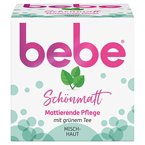 bebe Schönmatt Mattierende Pflege, Gesichtscreme mit grünem Tee, 50 ml