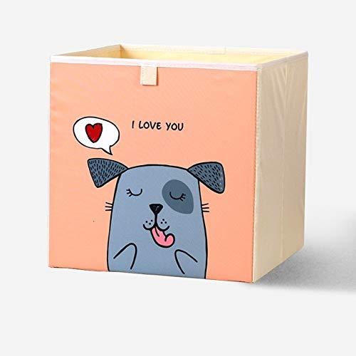 Nueva caja de almacenamiento de juguetes de dibujos animados Contenedores de almacenamiento plegables Armario cajón organizador ropa cesta de almacenamiento niños juguetes organizador 33x33x33CM
