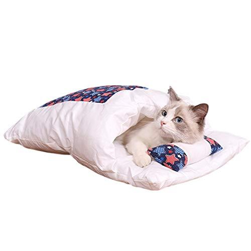 Ardentity Katzenschlafsack Flauschig Winter Geschlossen Abnehmbare Und Waschbare Haustierstreu Katzenbett Haustierbett,katzenhaus Hundehaus Tierhaus Für Katzen Hunde Nest Höhlenhaus