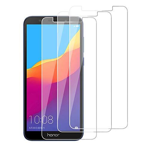 HongMan [3 Stück] Panzerglas Folie für Huawei Honor 7A Schutzfolie, Bildschirmschutzfolie Mit Frei von Fingabdrücken & Öl, 9H Festigkeit, 0,26mm Ultra-klar, Anti-Bläschen, Anti-Kratzen [2.5D R&e Kante]
