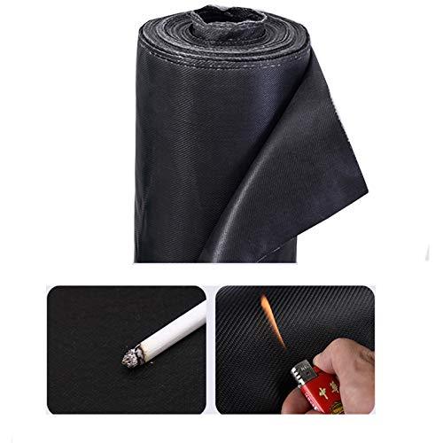 LJIANW-lonas impermeables exterior, Impermeable Cubierta De Muebles De Múltiples Fines Paño Ignífugo Paño De Soldadura Detén A Marte, Pesado 500 Gramos Fibra De Vidrio (Color : Black, Size : 1x6m)