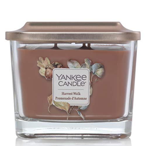Yankee Candle Elevation Collection piattaforma con coperchio, con stoppini, quadrato, candela profumata, raccolto Walk
