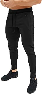 FLYFIREFLY Men's Gym Sport Pants Fashion Slim Fit Track Pants Workout Running Athletic Joggers Bottom