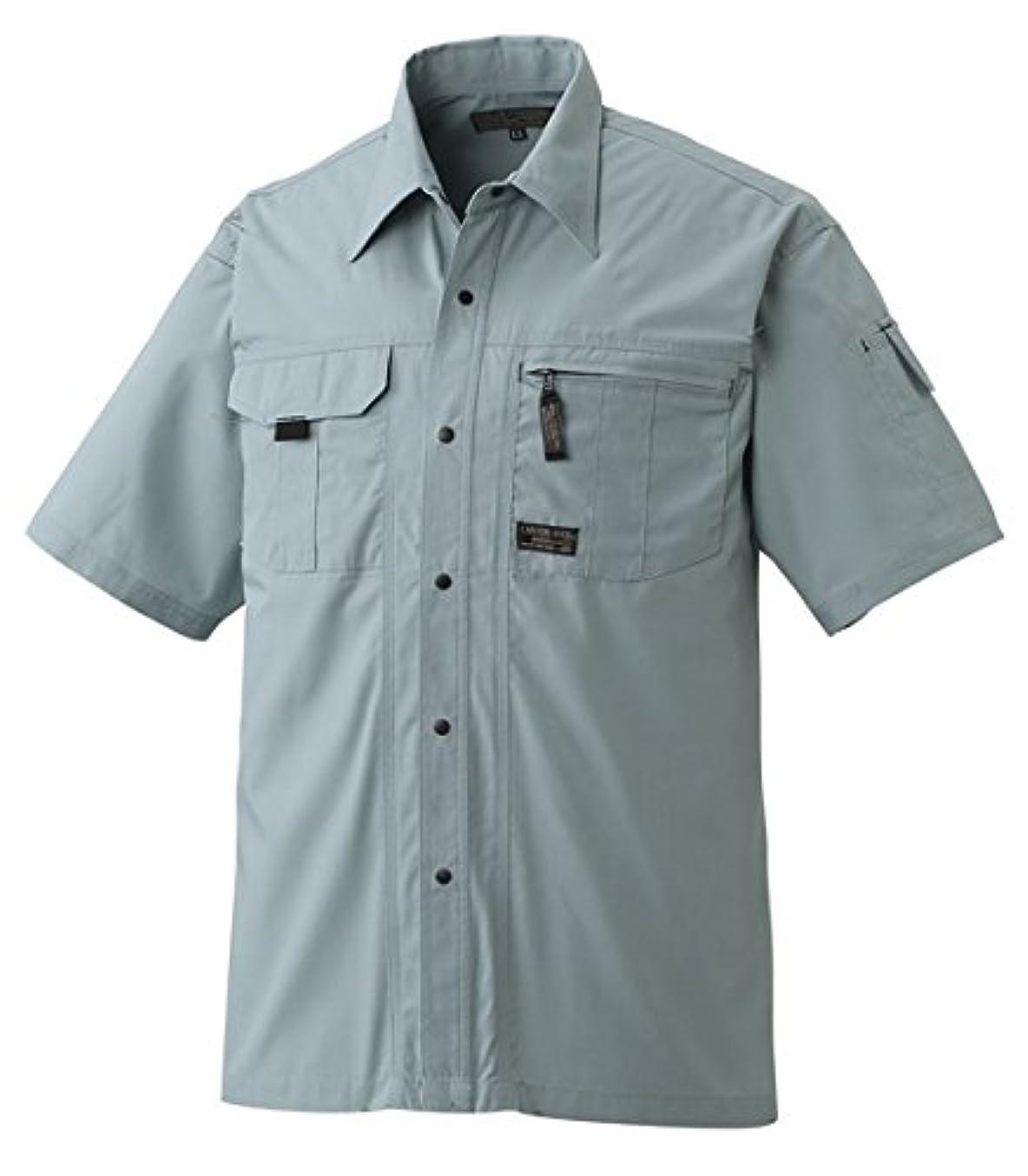 師匠かごラビリンスアタックベース 半袖シャツ 春夏用 512-8 20 ナイルグリーン 4L