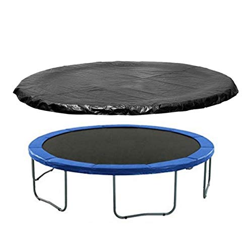 CHUWUJU 14ft Trampolines Weather Cover,Round Waterproof Trampoline Cover Rain Snow Sun Shade Protection Cover, Black