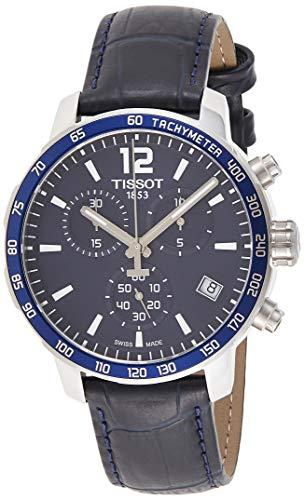 [ティソ] 腕時計 クイックスター クオーツ クロノグラフ ブルー文字盤 レザー T0954171604700 メンズ 正規輸入品 ブルー