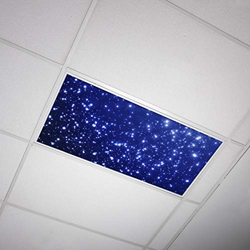 Octo Lights - Fluorescent Light Covers - 2x4 Flexible Decorative Light Diffuser Panels - Astronomy - for Classrooms and Offices - Astronomy 001