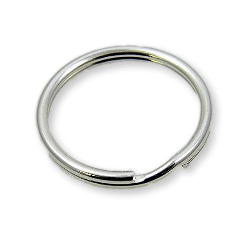 25mm (1 inch) Steel Split Ring (50 Pack) Key Chain Ring, Keyrings, Nickel Plated