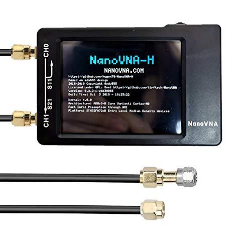 Findema Tragbarer Vector Network Analyzer für Nanovna,Tragbarer Kurzwellen-MF-HF-UKW-Antennenanalysator mit 50-kHz-900-MHz-Digitalanzeige und Touchscreen-Spektrumanalysatoren