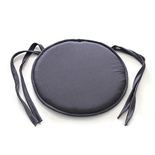 Cuscino Circolare Tondo per sedie Cuscini per sedute Cucina Ristorazione Rivestimento sfoderabile NOVÀ(38 38cmGrigio Scuro)